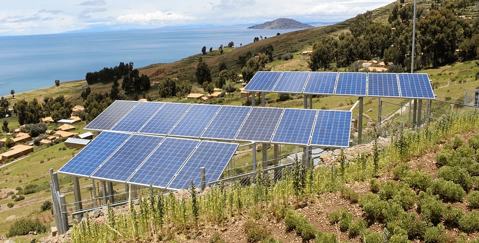 Instalación solar autónoma con baterías