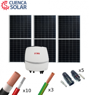 Kit Solar Autoconsumo 1500W SAJ 6000Wh/día