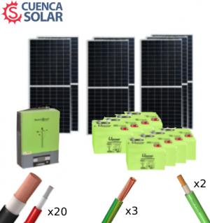 Kit Solar Aislada 5000W 48V Baterías GEL 14000Wh/día