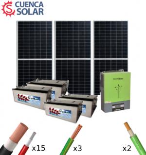 Kit Solar Aislada 5000W 48V Baterías AGM 6000Wh/día