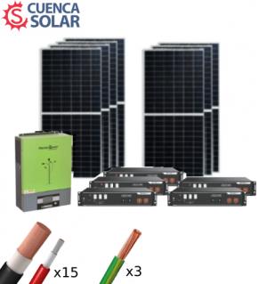 Kit Solar Aislada 5000W Litio 18KWh-48V Paneles 14000Wh/día