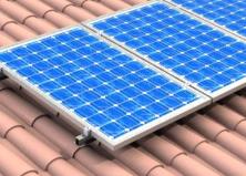 Kit Estructura para Panel Solar Coplanar Teja con varilla